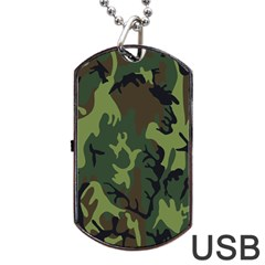 Military Camouflage Pattern Dog Tag Usb Flash (two Sides)