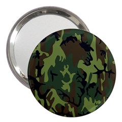 Military Camouflage Pattern 3  Handbag Mirrors