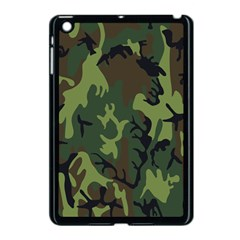 Military Camouflage Pattern Apple Ipad Mini Case (black)