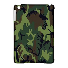 Military Camouflage Pattern Apple Ipad Mini Hardshell Case (compatible With Smart Cover)