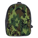 Military Camouflage Pattern School Bags (XL)  Front