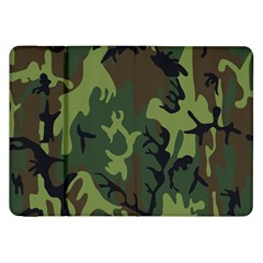 Military Camouflage Pattern Samsung Galaxy Tab 8 9  P7300 Flip Case