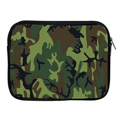 Military Camouflage Pattern Apple iPad 2/3/4 Zipper Cases