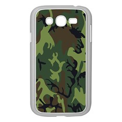 Military Camouflage Pattern Samsung Galaxy Grand DUOS I9082 Case (White)