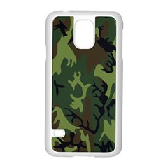 Military Camouflage Pattern Samsung Galaxy S5 Case (white)