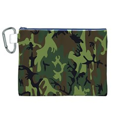 Military Camouflage Pattern Canvas Cosmetic Bag (xl)