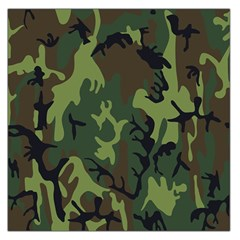 Military Camouflage Pattern Large Satin Scarf (square)