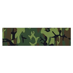 Military Camouflage Pattern Satin Scarf (Oblong)