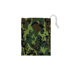 Military Camouflage Pattern Drawstring Pouches (XS)