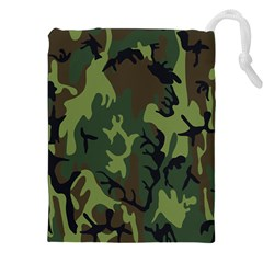 Military Camouflage Pattern Drawstring Pouches (xxl)