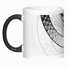 Enso, a Perfect Black and White Zen Fractal Circle Morph Mugs