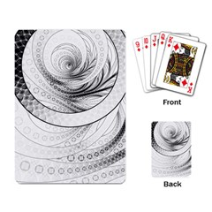 Enso, a Perfect Black and White Zen Fractal Circle Playing Card
