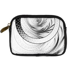 Enso, a Perfect Black and White Zen Fractal Circle Digital Camera Cases
