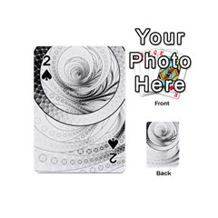 Enso, a Perfect Black and White Zen Fractal Circle Playing Cards 54 (Mini)