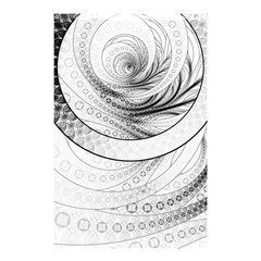 Enso, a Perfect Black and White Zen Fractal Circle Shower Curtain 48  x 72  (Small)