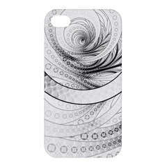 Enso, a Perfect Black and White Zen Fractal Circle Apple iPhone 4/4S Hardshell Case