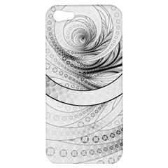 Enso, a Perfect Black and White Zen Fractal Circle Apple iPhone 5 Hardshell Case