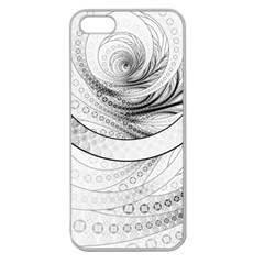 Enso, a Perfect Black and White Zen Fractal Circle Apple Seamless iPhone 5 Case (Clear)