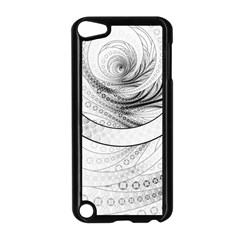 Enso, a Perfect Black and White Zen Fractal Circle Apple iPod Touch 5 Case (Black)