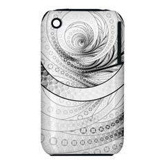 Enso, a Perfect Black and White Zen Fractal Circle iPhone 3S/3GS