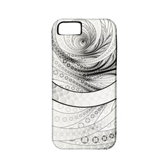 Enso, a Perfect Black and White Zen Fractal Circle Apple iPhone 5 Classic Hardshell Case (PC+Silicone)