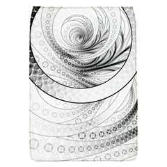 Enso, a Perfect Black and White Zen Fractal Circle Flap Covers (S)