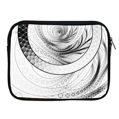 Enso, a Perfect Black and White Zen Fractal Circle Apple iPad 2/3/4 Zipper Cases