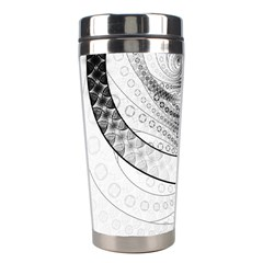 Enso, a Perfect Black and White Zen Fractal Circle Stainless Steel Travel Tumblers