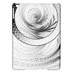 Enso, a Perfect Black and White Zen Fractal Circle iPad Air Hardshell Cases