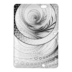 Enso, a Perfect Black and White Zen Fractal Circle Kindle Fire HDX 8.9  Hardshell Case