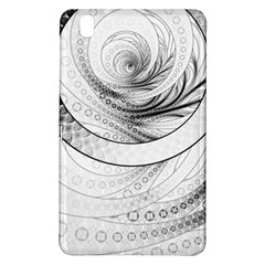 Enso, a Perfect Black and White Zen Fractal Circle Samsung Galaxy Tab Pro 8.4 Hardshell Case