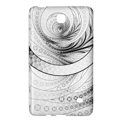 Enso, a Perfect Black and White Zen Fractal Circle Samsung Galaxy Tab 4 (8 ) Hardshell Case