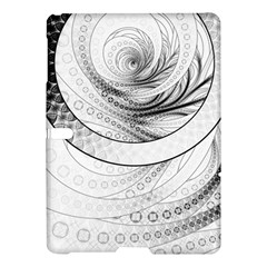 Enso, a Perfect Black and White Zen Fractal Circle Samsung Galaxy Tab S (10.5 ) Hardshell Case