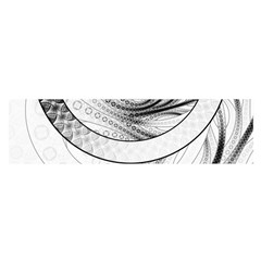 Enso, a Perfect Black and White Zen Fractal Circle Satin Scarf (Oblong)