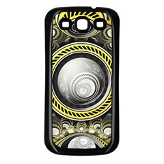 A Cautionary Fractal Cake Baked for GlaDOS Herself Samsung Galaxy S3 Back Case (Black)