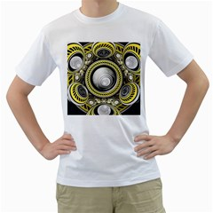 A Cautionary Fractal Cake Baked for GlaDOS Herself Men s T-Shirt (White)