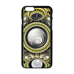 A Cautionary Fractal Cake Baked for GlaDOS Herself Apple iPhone 6/6S Black Enamel Case