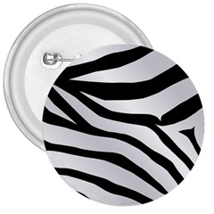 White Tiger Skin 3  Buttons