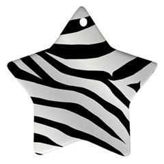 White Tiger Skin Ornament (star)