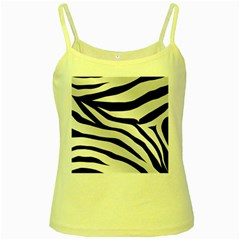 White Tiger Skin Yellow Spaghetti Tank