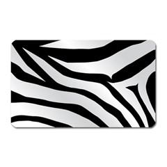 White Tiger Skin Magnet (rectangular)