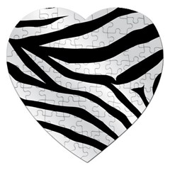 White Tiger Skin Jigsaw Puzzle (Heart)