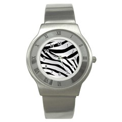 White Tiger Skin Stainless Steel Watch