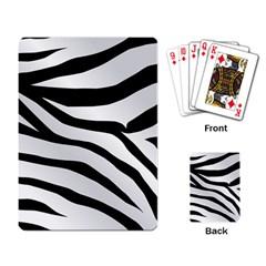 White Tiger Skin Playing Card