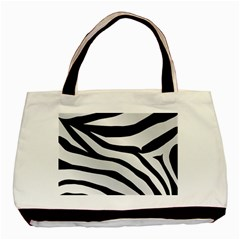 White Tiger Skin Basic Tote Bag (two Sides)