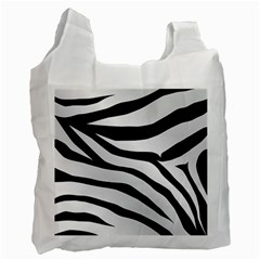 White Tiger Skin Recycle Bag (one Side)