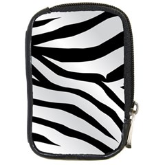 White Tiger Skin Compact Camera Cases