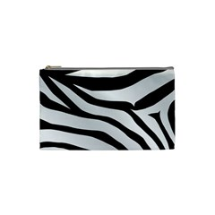 White Tiger Skin Cosmetic Bag (Small)