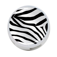 White Tiger Skin 4 Port Usb Hub (one Side)