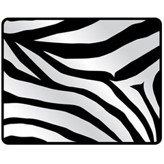 White Tiger Skin Fleece Blanket (medium)